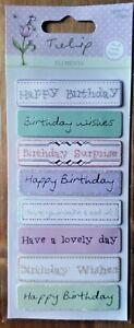 "Tulip ""Birthday Greetings"" Elements Hand Made Toppers~Cards~Docrafts"