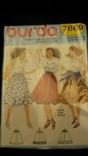 Burda Sewing pattern 7849 skirt multi language french size 34 - 42