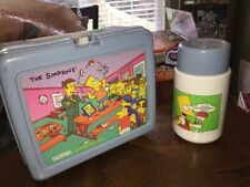 1990 The Simpsons Cartoon Lunchbox With Rare Variant Thermos