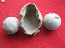 Dug Revolutionary War Powder Cap(Design Inside) +2 Musket Balls Loyalist Site