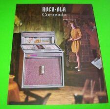 431 Coronado Jukebox Phonograph Flyer Music Promo 1966 Nos Original Rock Ola