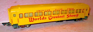 American Flyer 649 WORLDS  GREATEST SHOW Circus Coach Illuminated. S-gauge