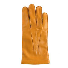 Merola Gloves Gold Leather Mens Gloves Made in Italy