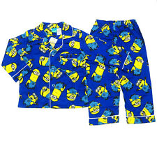 NEW Sz 2~8 KIDS PYJAMAS MINION PJS BOYS WINTER FLANNELETTE SLEEPWEAR CHILD PJ