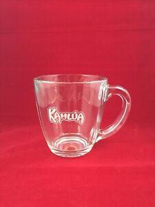 Kahlua Coffee Mug Cup Clear Glass Libbey Owens Glass Co Gorgeous
