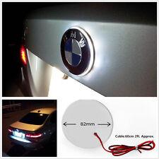 White 82mm Emblem Badge LED Background Light Backlit For BMW 3 5 7 X Series