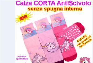 Unicorno calzini antiscivolo unicorn leggeri senza spugna interna bimba