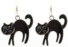Zest Halloween Gato pendientes para orejas perforadas Negro