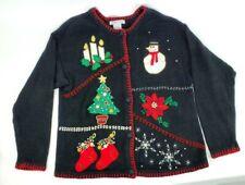 VICTORIA JONES Large Sweater Christmas Tree Ugly Sweater - EUC