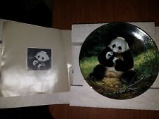 Bradford Exchange Collectors Plate in Box - Endangered Species : The Panda P10