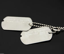 "Captain America ""Bucky"" Stainless Steel Military Dog Tags Cosplay Costume Prop"