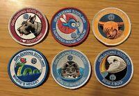 Girlguiding Scotland Animal Badges FULL SET of 6 / Guides Brownies Camp Blanket