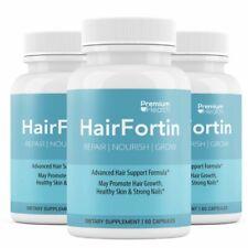3 Bottles Hair Fortin Repair Nourish and Grow 60 Capsules x 3