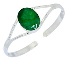 16g Emerald 925 Sterling Silver Bangles Jewelry BA2220