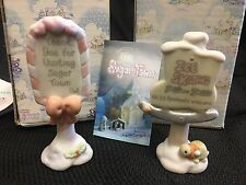 Precious Moments Sugar Town Set of Two Ice Skating Sing Figurines #456217 184020