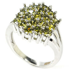 Hi End Green Peridot S/Silver 925  Ring Size 7.5 Weimaraner Rescue Charity
