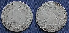 MONETA COIN AUSTRIA ÖSTERREICH 20 KREUZER 1808 (A) FRANZ I ARGENTO SILVER SILBER