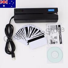 MSR605X Magnetic Stripe Credit Card Reader Writer Encoder Mag Magstripe MSR206