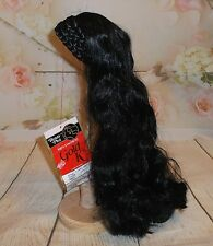 Dome Cascade HAIR PIECE Black 1B Braided crown, comb attachment UNUSED tags