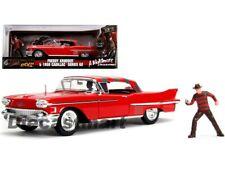 Jada 1:24 1958 Cadillac Series 62 W/Freddy Krueger Nightmare Elm On Street 31102