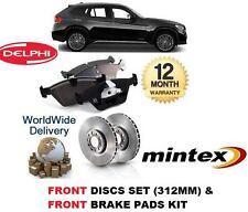 für BMW X1 2009- > New Bremsscheiben Vorne (312mm) Satz und Bremsbelagsatz