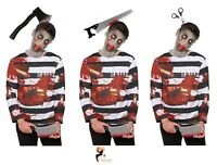 Boys ZOMBIE CONVICT Halloween COSTUME Prisoner Child Fancy Dress Outfit