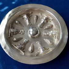 Ritual Thracian Phiale shallow dish copper silver plated