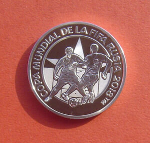 Paraguay 2017 FIFA World Cup Russia 2018 1 Guaraní Silver Proof Coin
