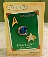 Hallmark Keepsake  Ornament Star Trek Insignias 2004 3 Ornaments