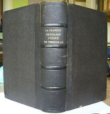 LA CHANSON DE ROLAND 1850 EO FRANCOIS GENIN HISTOIRE MEDIEVALE POEME EPIQUE