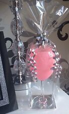 Mother's Day Glitter Wine Glass & Charm Pink Gift Idea Mum Nan Aunt Occasions