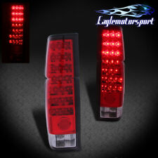 For 1986-1997 Nissan Hardbody D21 Pickup Red LED Rear Brake Tail Lights Lamps