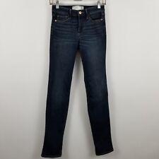Abercrombie & Fitch Straight Mid Rise Women's Dark Wash Blue Jeans Sz 2R 26 x 31