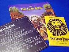 2017 Disney Lion King Musical Play Broadway at Eccles SLC Utah Program Tour Book