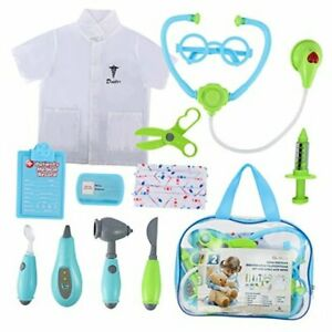 Toddler Doctor Kit for Kids, 12 Pcs Dotor Pretend Play Toys with Roleplay