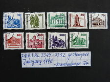 DDR Mi 3344 - 3352 gestempelt Dauerserie Jahrgang 1990