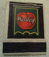 Waldorf Matchbook Cover A Clean Place to Eat Apple Vintage Antique Old