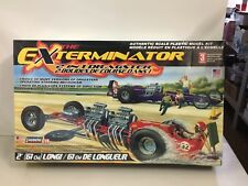 LARGE NEW LINDBERG 1/8 SCALE THE EXTERMINATOR 2 IN 1 DRAGSTER MODEL CAR KIT
