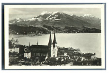 Suisse, Lucerne, Panorama  Vintage silver print.  Tirage argentique  6x9