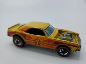 Hot Wheels Redline Heavy Chevy Yellow Orange Tampo Flying Colors HK 1969