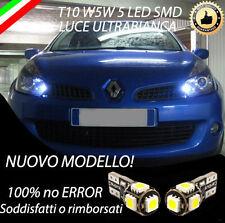 COPPIA LUCI DI POSIZIONE 5 LED PER RENAULT CLIO 3 III T10 W5W CANBUS NO ERRORE