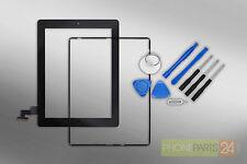 iPad 2 Digitizer Touchscreen Display Front Glas + Rahmen + Werkzeug schwarz