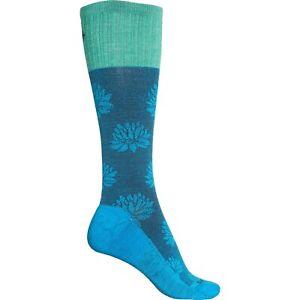 Sockwell Womens M/L Lotus Lift Moderate Graduated Compression Socks Turquoise