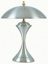 3-Way Brightness  Domed Touch Lamp, Satin Chrome finish 15in H NEW