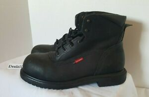 Red Wing Steel Toe Boots ASTM F 2413-11 Men's Size 10.5 M Black Lace Up