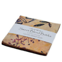 "Moda FABRIC Charm Pack ~ SWEET BLEND BATIKS ~ by Laundry Basket - 5"" squares"