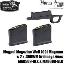 MAGPUL Mag Well & +2X .300WM 5rd Magazines -fits Hunter 700L Stock MAG569 MAG698