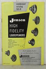 1957 Jensen high fidelity loudspeakers condensed catalog