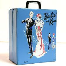 BARBIE & KEN Vintage 2 Doll Fashion Wardrobe Carry Storage Case Bubblecut