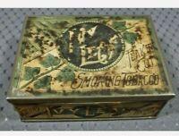 Vintage Scotten Dillon Ivy Leaf Flake Cut Smoking Tobacco Tin Detroit MI Rare